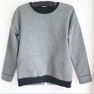 LULULEMON sweatshirt in heathered dark grey/black